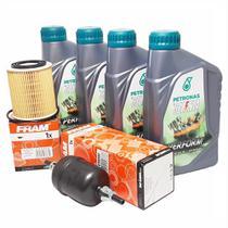 Revisão 4 Litros de Óleo 5W30 100% Sintético Petronas 1 Refil Filtro de Óleo 1 Filtro de Combustível Novo Palio e Grand Siena 1.6 16v EtorQ Flex -