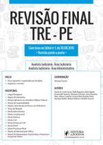 Revisão Final: Tre-pe - Dicas Ponto a Ponto do Edital - Juspodivm - Especiais