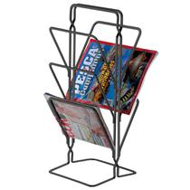 Revisteiro de Chão Decorativo Porta Jornal Revista em Aço Luxo - Future