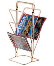 Revisteiro De Chão Porta Revistas Jornal Rosé Gold 1210rg - Future -