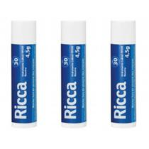 Ricca 2200 Hidratante Labial Fps30 Neutro 4,5g (Kit C/03) -