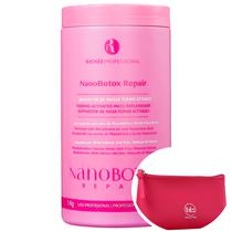 Richée Professional Nano Botox Repair - Repositor de Massa 1000g + Nécessaire Pink Beleza na Web -