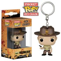 Rick Grimes - Chaveiro Funko Pop Pocket The Walking Dead