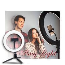 Ring Light 20cm portátil mesa led maquiagem filmagem tripé - 123Útil