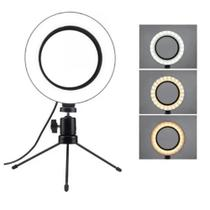 Ring Light 6 Polegadas Iluminador 16cm Usb Led E Mini Tripé - Hamy