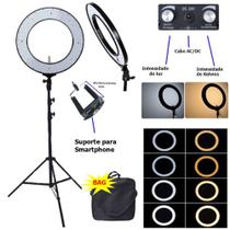 Ring Light Bicolor 18''com Tripé 2M 448 Leds 80w com Tripé 2M - Tomate