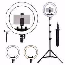 Ring Light Completo Iluminador Portátil 26cm + Tripé 2m 10 Polegadas - Rohs