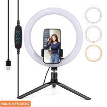 Ring Light Completo Iluminador Portátil Youtuber + Tripé 005 - Dl
