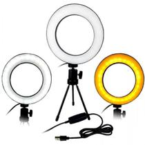 Ring Light Completo Mini Ring Light Com Tripe Iluminador De Led Portátil De 16cm Para Maquiagem - Super Vendas Digital