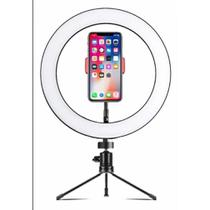 Ring Light Iluminador 8 Polegada+ Tripé De Mesa+ Suporte Celular - Fill