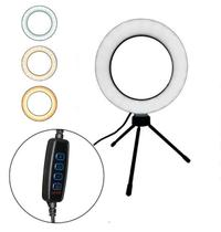 Ring Light Iluminador Led 16Cm + Mini Tripé - Megaonzeshop