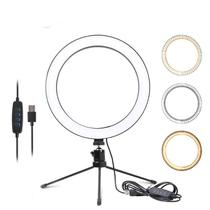 Ring Light Iluminador Selfie Makeup Tripé De Mesa Luz Led - Musical Mendes