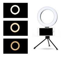Ring Light Lampada Luz Led Iluminador Anel 16cm 6 Poleg. Make Fotos c/ Tripé Fotografia Video Selfie Youtube - Feitun