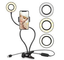 Ring Light Para Celular De Mesa Para Selfie Com Luminária Led -
