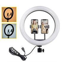 Ring Light Portátil LED 30cm + 2 suportes celular CL-12 - Greika