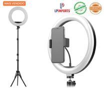 Ring Light Profissional 12 polegada led 30cm + Tripe 2m + usb e suporte Celular selfie Foto make up - Lp Imports