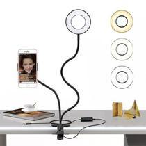 Ring Light + Suporte Celular Selfi Luminaria Abajur Youtuber - C W Acessorios