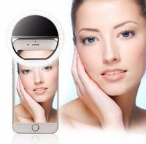 Ring Luz de Selfie Samsung Galaxy S10 Plus Flash Ring + Capa Silicone + Película Vidro - Armyshield -