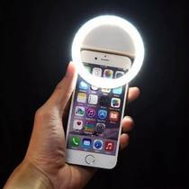 Ring Luz de Selfie Samsung Galaxy S10e Flash Ring + Capa Silicone + Película Vidro - Armyshield -