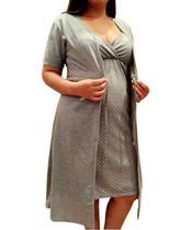 Robe Maternidade com Camisola Gestante de Alcinha - Linda Gestante -