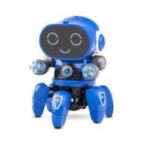Robô Bot Inteligente Musical Andando Dança Led Brinquedo -