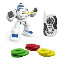 Robô Controle Remoto + Luzes + Som + Movimento - Robot's - BBR TOYS -