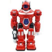 Robô de Brinquedo com Luz e Som e Movimento Vermelho - 99 Toys