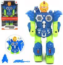 Robo Eaktron Iron Com Som E Luz A Pilha Na Caixa Wellkids - Oem