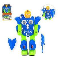 Robo Eaktron Iron Com Som E Luz A Pilha Na Caixa Wellkids - Wellmix