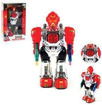 Robo maxtrom guerreiro do espaco com som e luz a pilha na caixa wellkids - Wellmix