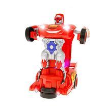 Robô Relâmpago Mcqueen Transformers Brinquedo Carrinho com Luz e Som - Outras marcas