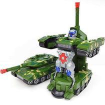 Robô Tanque De Combate Guerra Vira Robô Com Som E Luz - Yijun