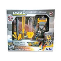 Robo Transformavel Missao Tatica Guindaste Hidráulico 9509 - Buba -