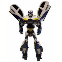 Robô Transformável Super Missão Police Branco 1782 - Buba -