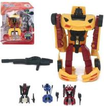 Robo Transforme Carro Hero Squad Super Robot Com Acessorio Colors Na Cartela Wellkids - Wellmix