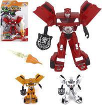 Robo transforme carro hero squad super robot com acessorios colors na cartela wellkids - Wellmix