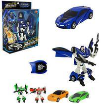 Robo transforme carro hero squad warrior com acessorio colors na caixa wellkids - Wellmix