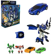 Robo transforme carro hero squad warrior com acessorio colors na caixa wellkids - Wellmix