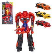 Robo transforme carro sport guardioes da terra veloz com acessorio colors - Kendy
