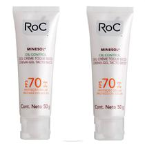 Roc Kit - 2x Protetor Solar Roc Minesol Oil Control FPS70 -
