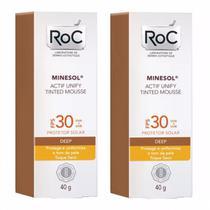 Roc Minesol Actif Unify Mousse Deep Fps 30 2 Unidades -
