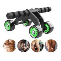 Roda Abdominal Rolo De Exercicios Lombar Em Casa + Tapete - Abdominal Wheel