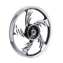 Roda aluminio dianteira temco orion crom/pto cg 150 esd -