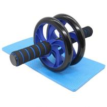 Roda De Exercícios Abdominais Dupla Rodinha Abdominal Azul CBRN15481 - Commerce Brasil