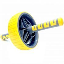Roda de Exercicios Abdominais Mais Estabilidade Cor Amarela  Liveup -