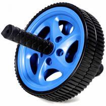 Roda de Exercicios Abdominais Plus na Cor Azul  Liveup -