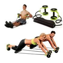 Roda Exercicio Abdominal Elástico Extensor Revoflex Aparelho Emagrecer Malhar Casa Musculação -
