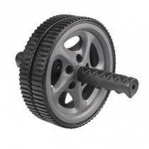 Roda Exercício Abdominal Lombar Exercise Whell Liveup Cinza -