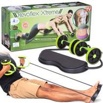 Roda Exercicio Abdominal Revoflex Xtreme Musculacao Elastico -
