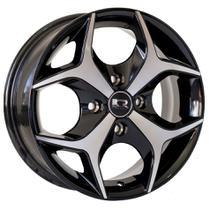 Roda K18 Aro 15x6 4x100 Preta Diamantada KR -